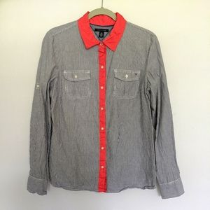 Women's Tommy Hilfiger Button Down Shirt Large